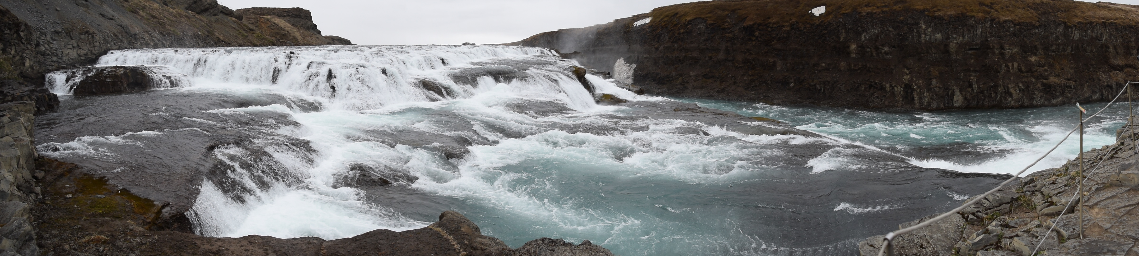 Gullfoss Waterfall from the lower lookout