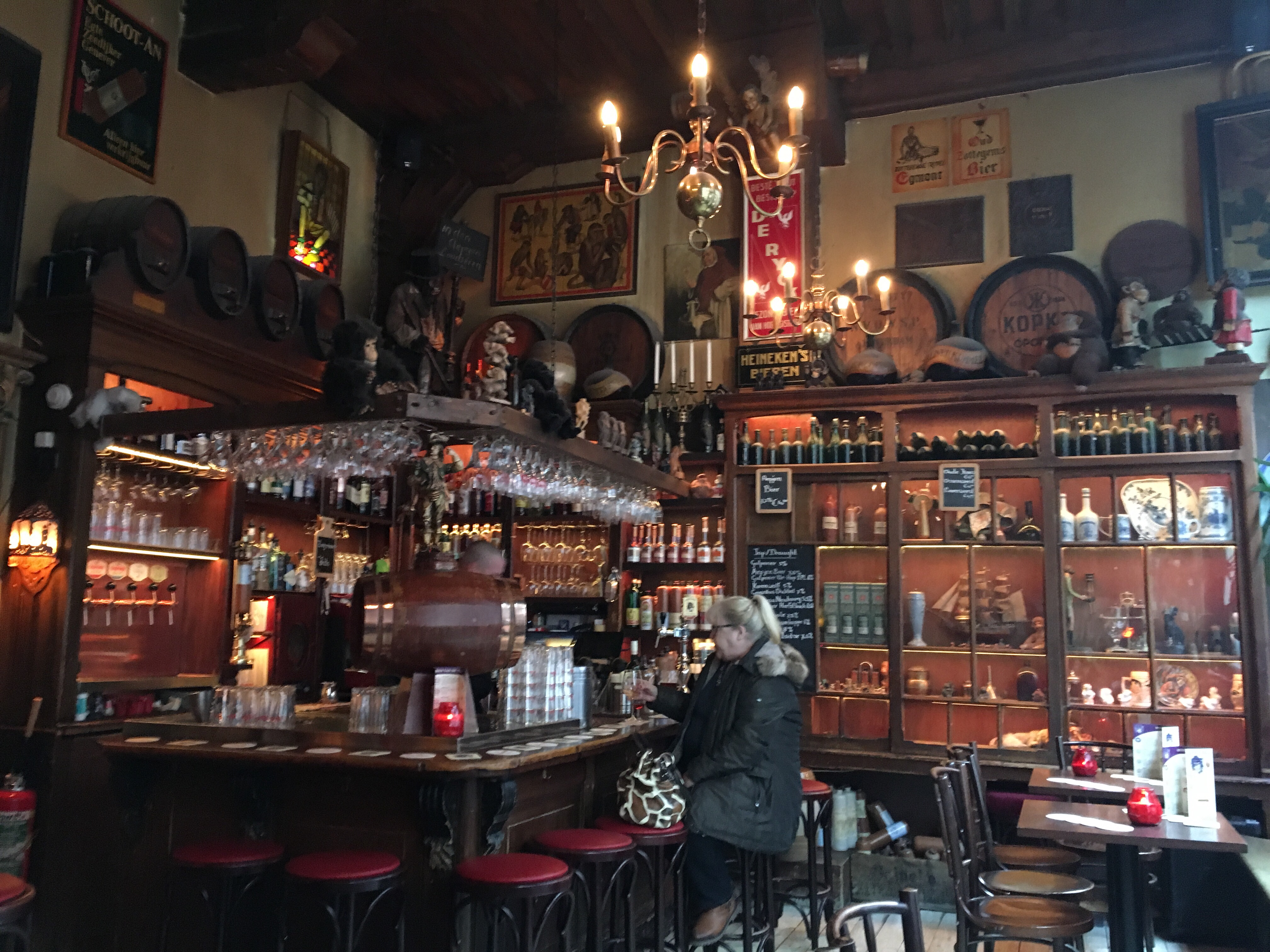 In't Aejep the oldest bar in Amsterdam