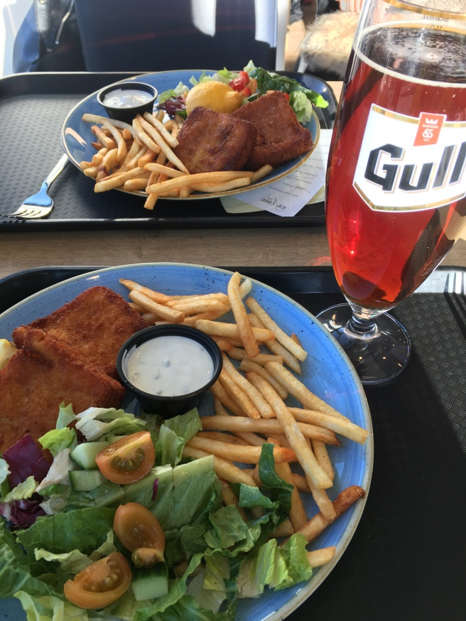 Gull fish and chips