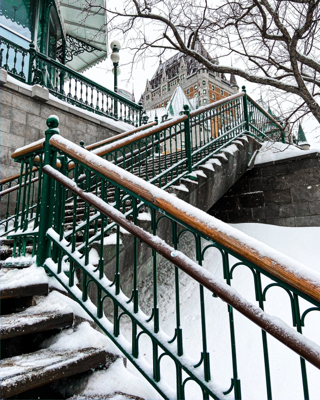 Chateau Frontenac and Breakneck Stairs