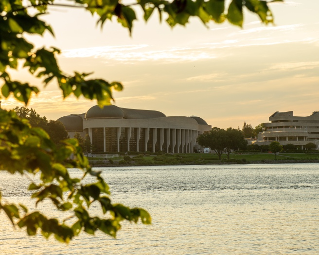 Museum of History on Ottawa River during golden hour