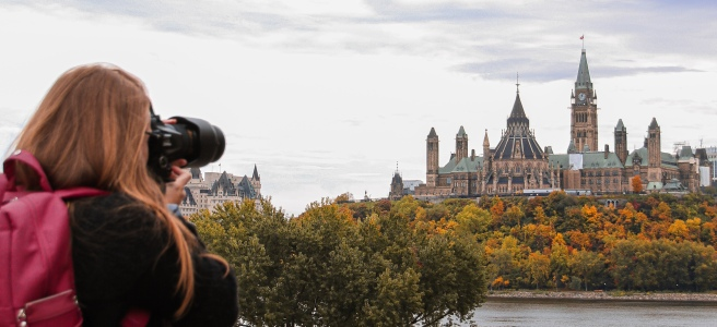 Fall colours on parliament hill