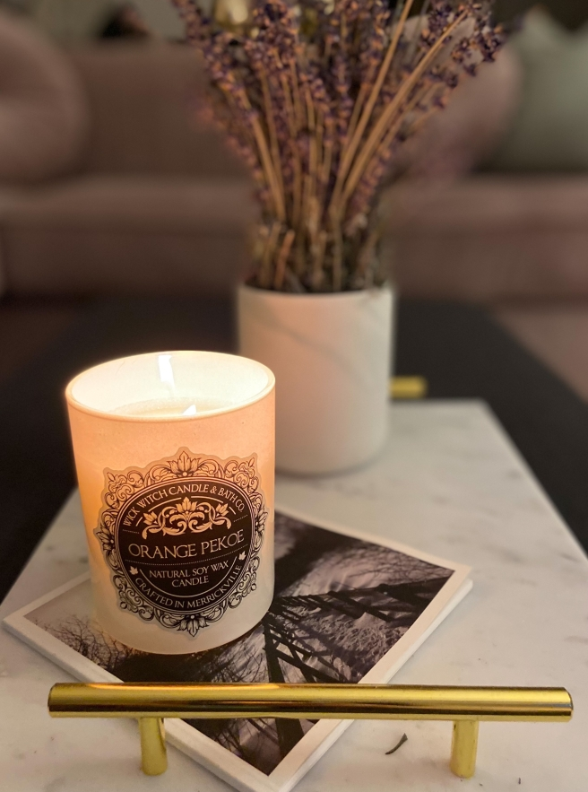 Support Local Ottawa Candle Company with Wick Witch Apothecary candle and dried lavender bundle
