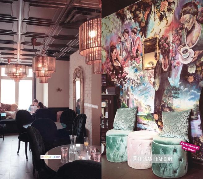 Vanitea Room on Somerset has the most amazing decor