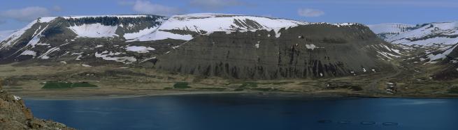 Iceland Westfjords mountain range